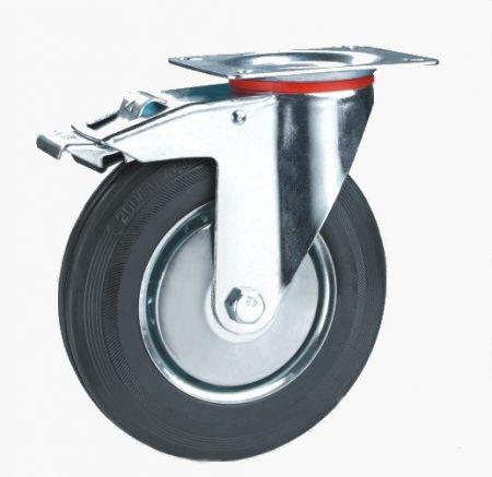 Колесо промышленное поворотное c тормозом