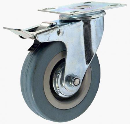 Колесо аппаратное поворотное с тормозом