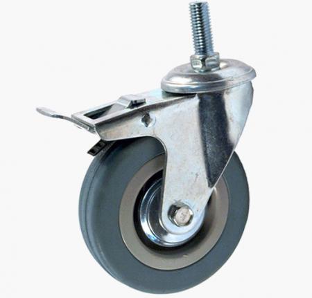 Колесо аппаратное поворотное с болтом и тормозом