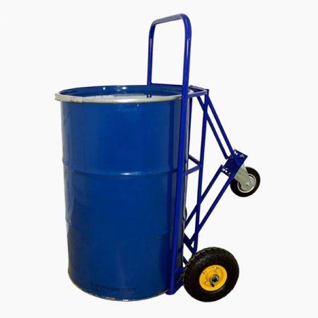 Тележка для перевозки и хранения металлических бочек КБ-2