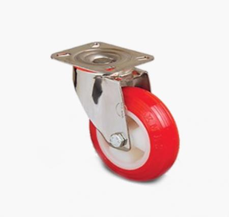 Поворотное полиуретановое колесо
