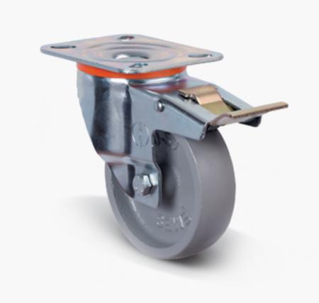 Термостойкое колесо с тормозом