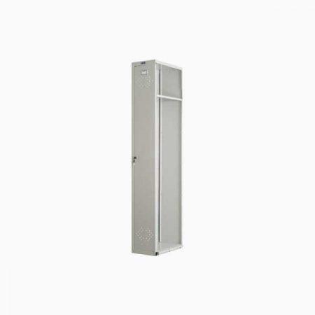 Металлический шкаф для раздевалки ПРАКТИК LS-001 (приставная секция)