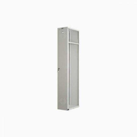 Металлический шкаф для раздевалки ПРАКТИК LS-001-04 (приставная секция)