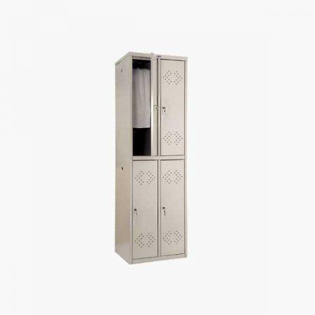 Металлический шкаф для раздевалки ПРАКТИК LS-22