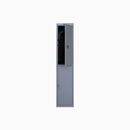 Металлический шкаф для раздевалки ПРАКТИК AL-002 (приставная секция)