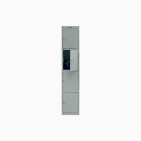 Металлический шкаф для раздевалки ПРАКТИК AL-004 (приставная секция)